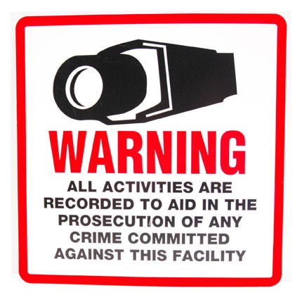 Security Warning Signs & Stickers