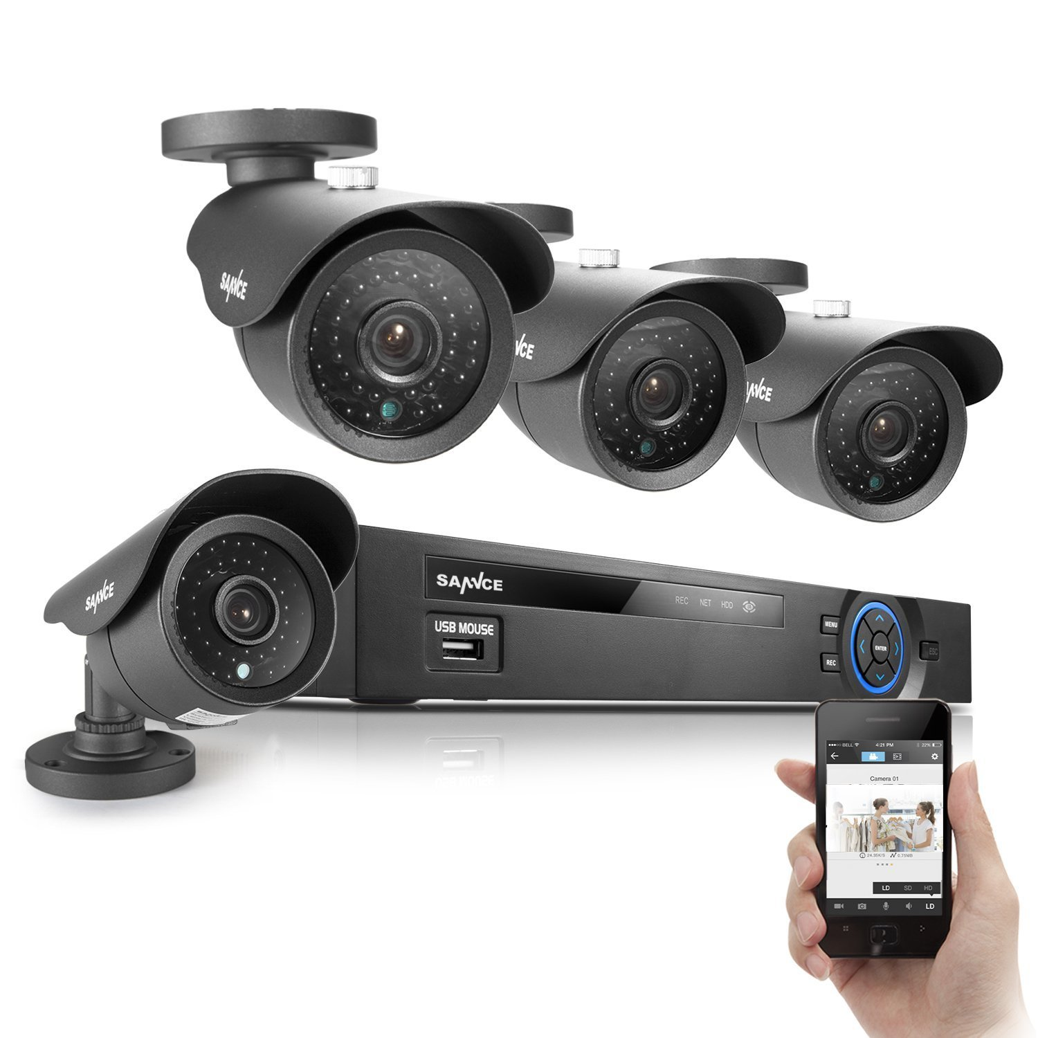 SANNCE Night Vision Video Security