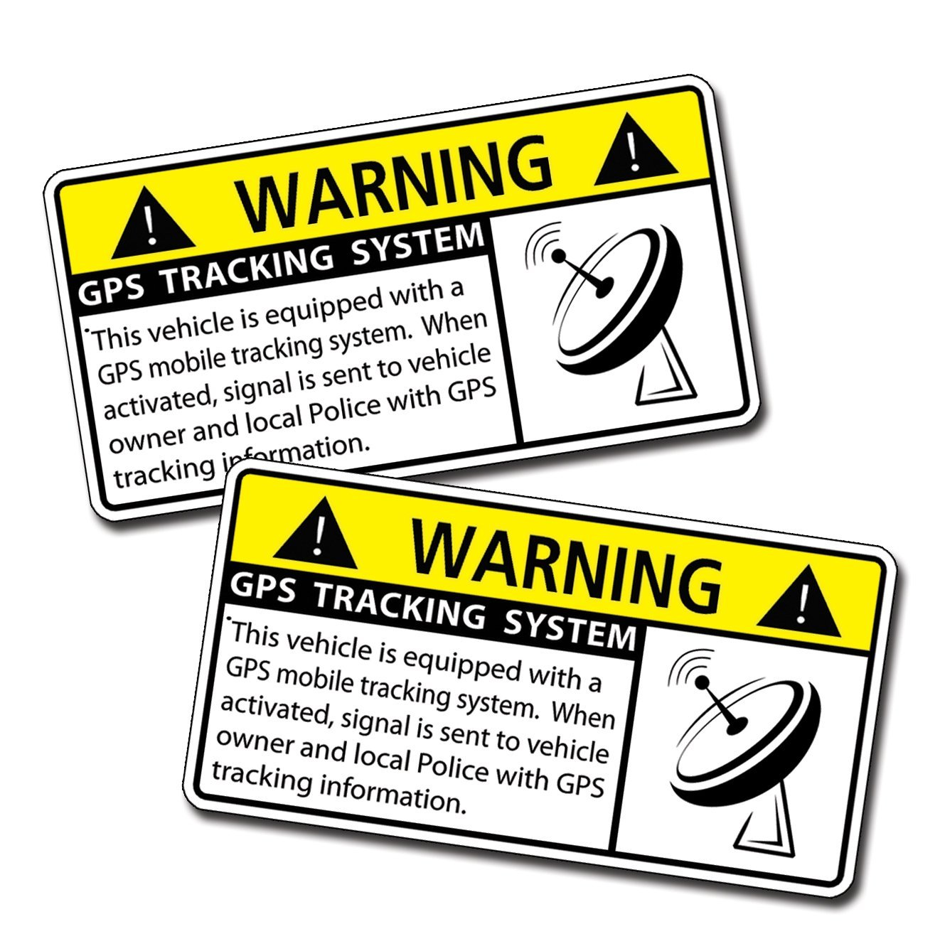 Vehicle Security Warning Stickers